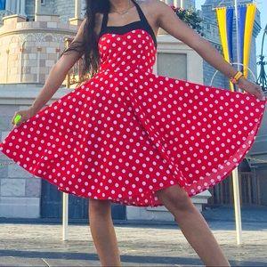 Dresses & Skirts - Red white and black polka dot dress